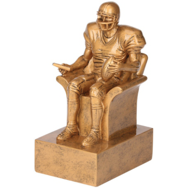 Gold Armchair Quarterback Trophy