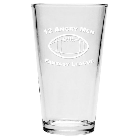 Custom Fantasy Football League Pint Glasses