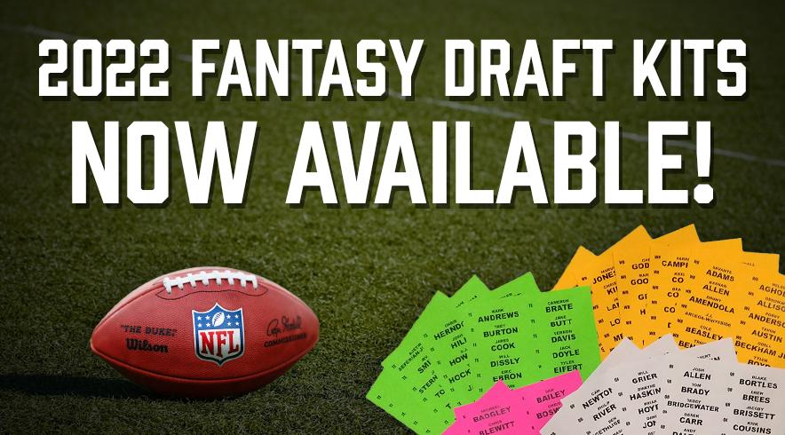 Order your 2019 Fantasy Football Draft Kit.