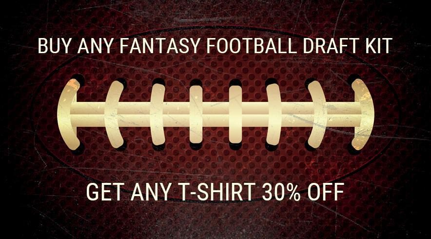 Fantasy football t-shirts and apparel.