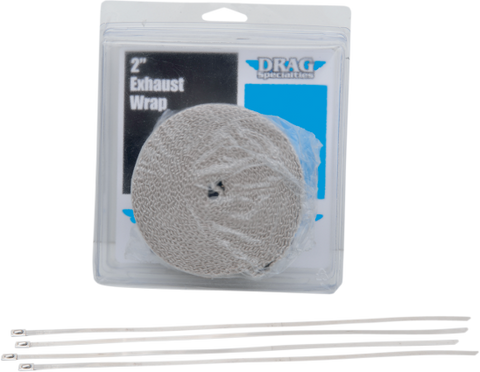 Exhaust Wrap-White 2""