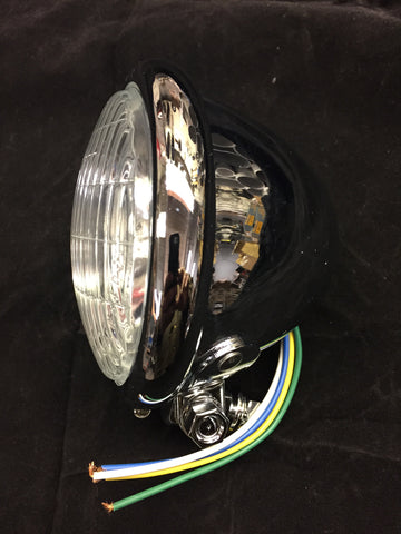 "4 1/2"" mini-Bates style headlight (chrome)"