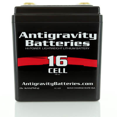 "Antigravity AG-1601 Battery (for bikes up to 1600cc / 96"")"