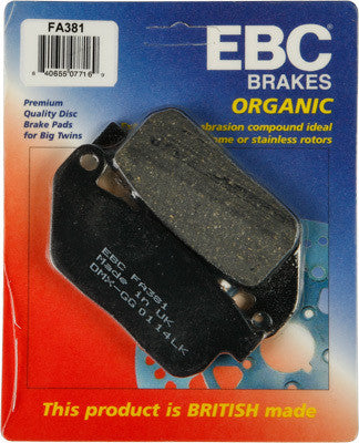 EBC FA381 04-13 Sportster Front Brake Pads