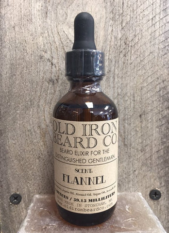 Old Iron Beard Co. Beard Oil - Flannel