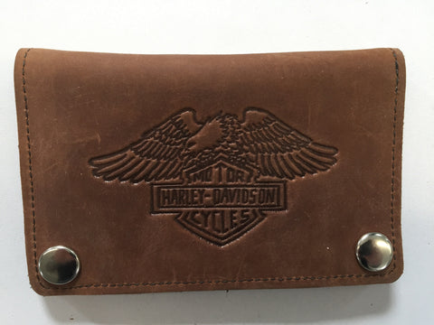 "Reynoso 6"" Harley Wallet-Tan/Black"
