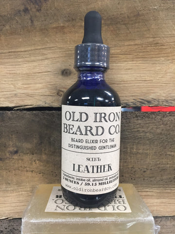 Old Iron Beard Co. Beard Oil - Leather