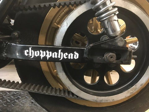 Choppahead die-cut vinyl sticker