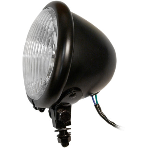 "4 1/2"" Mini-Bates style headlight (satin black)"