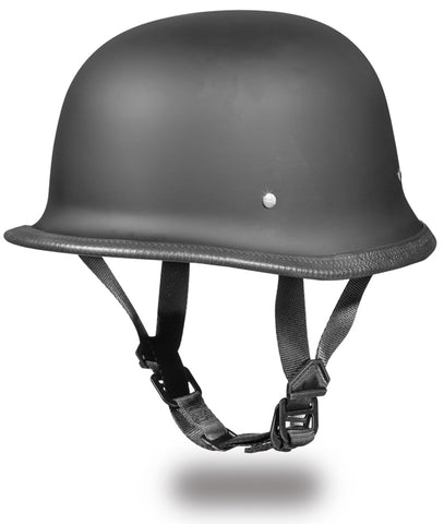 Daytona German Style Helmet (DOT) - Matte Black