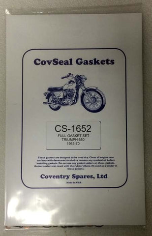 Triumph 650 Complete Gasket Sets With Head Gasket - (1963-1970)