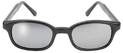 KD's Sunglasses-Black/Silver Mirror