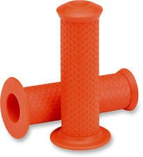 Lowbrow Customs Fish Scale Grips-Orange 1""