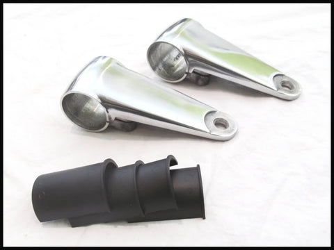 Emgo Headlight Bracket Set- Alloy