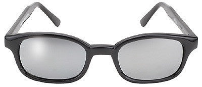 KD X's Sunglasses-Black/Silver Mirror