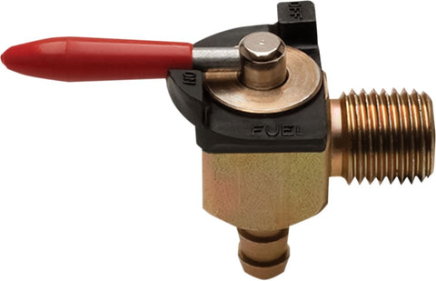 Motion Pro 90 degree petcock / fuel valve (1/4 NPT x 1/4 barb)