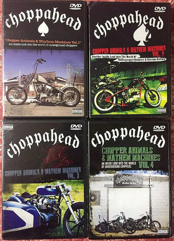 Choppahead DVD - ALL 4 DVD PACK!