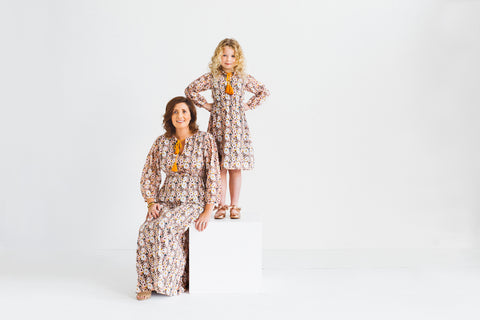 womens and girls floral maxi dress mother and daughter dresses