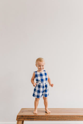 poet vintage romper for little boys