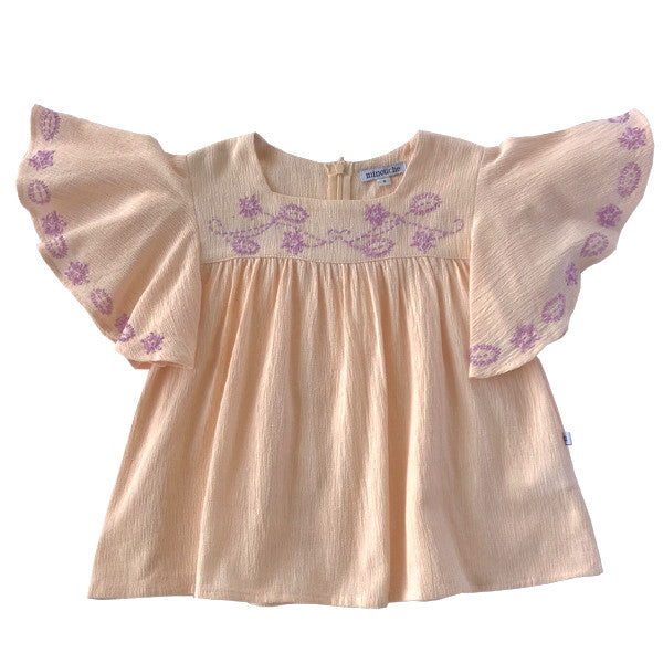 Ladies Folk Top - Blush