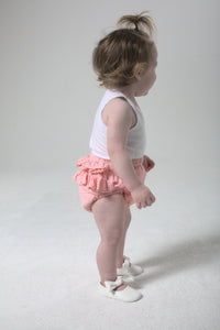 Ruffle bloomers - rosey pink