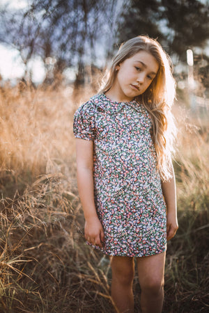 Floral Little girls vintage inspired Magnolia dress
