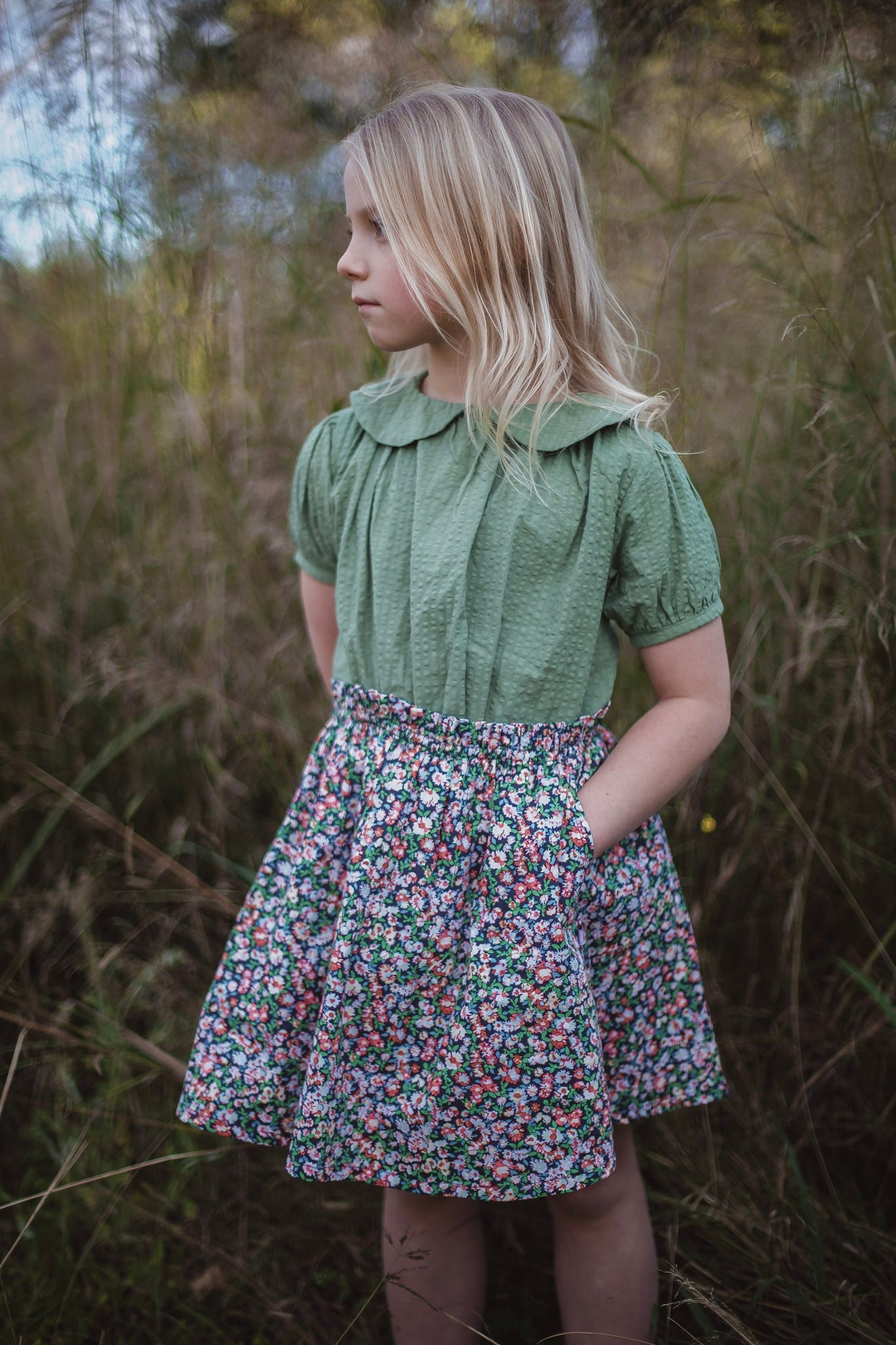Violetta skirt - mimosa floral