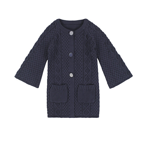 Lucie long-line cardigan - charcoal