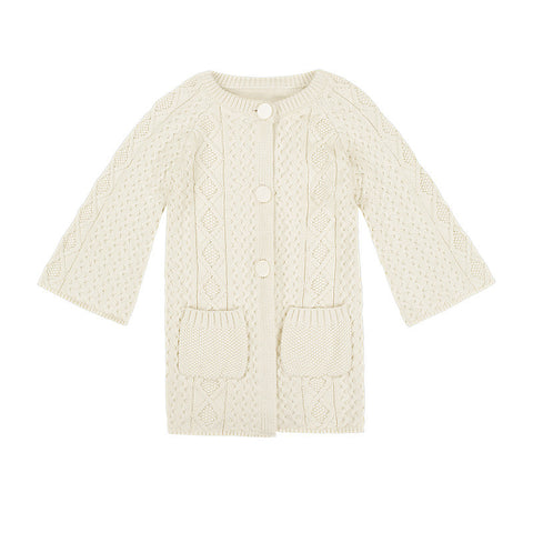 Lucie long-line cardigan - winter white