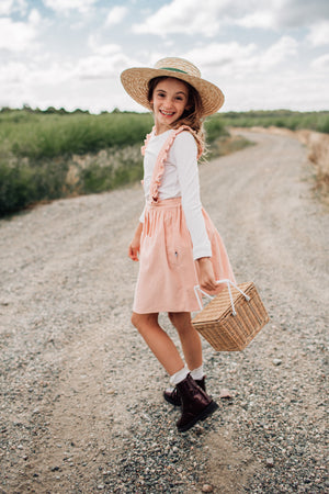Ava Pinafore Skirt - Pink