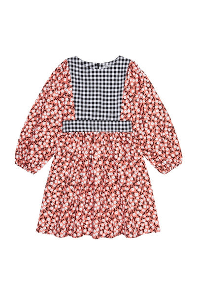 Amber dress - floral and gingham
