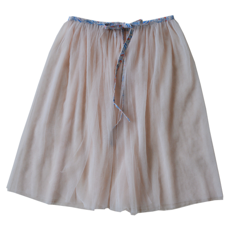 Tulle playskirt/cape (pink/bluebell)
