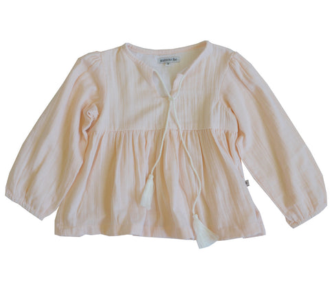 Valerie womens blouse - pale pink