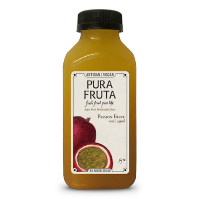 Pura Fruta Cold-Pressed Passion Fruit Juice 12oz