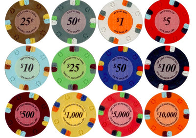 $0.25 Cent Brown Lucky Casino 13.5 Gram - 100 Poker Chips
