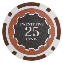 $0.25 Twenty Five Cent Eclipse 14 Gram - 100 Poker Chips