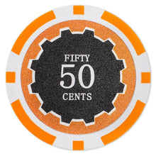 $0.50 Fifty Cent Eclipse 14 Gram - 100 Poker Chips