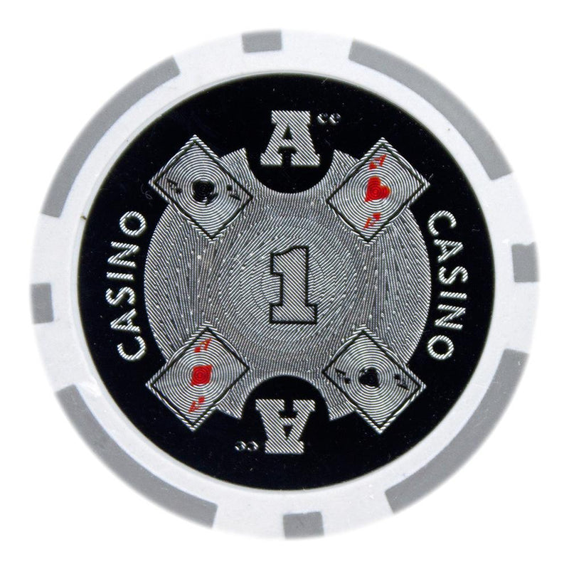 $1 One Dollar Ace Casino 14 Gram - 100 Poker Chips