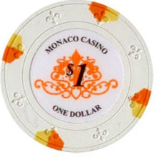 $1 White Lucky Monaco Casino 13.5 Gram - 100 Poker Chips