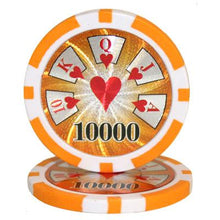 $10,000 Ten Thousand Dollar High Roller 14 Gram - 100 Poker Chips