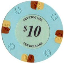 $10 Light Blue Lucky Casino 13.5 Gram - 100 Poker Chips