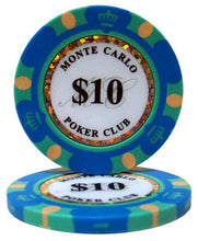 $10 Ten Dollar Monte Carlo 14 Gram - 100 Poker Chips