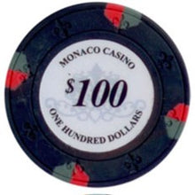 $100 Black Lucky Monaco Casino 13.5 Gram - 100 Poker Chips
