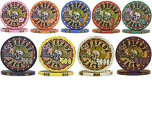 100 Nevada Jack Skulls Ceramic Poker Chips
