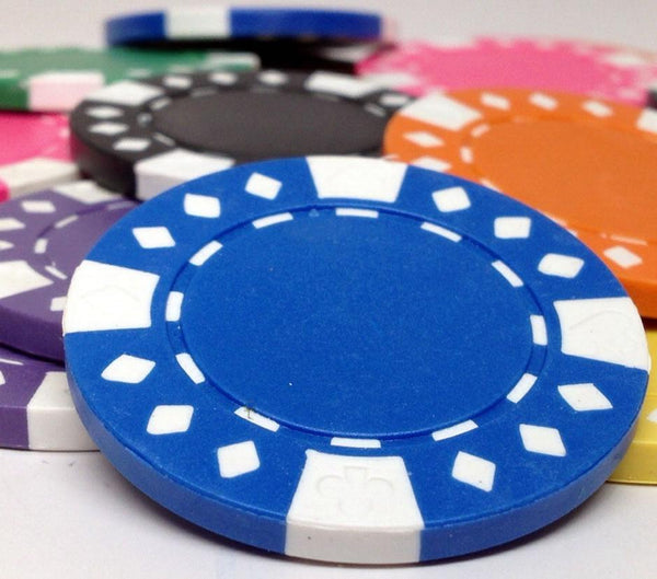 1000 Diamond Suited 12.5 Gram Poker Chips Bulk