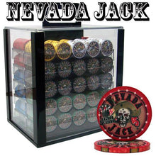 1000 Nevada Jack Skulls Ceramic Poker Chips Set With Acrylic Carrier