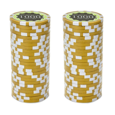 $1000 One Thousand Dollar Eclipse 14 Gram - 100 Poker Chips