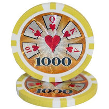 $1000 One Thousand Dollar High Roller 14 Gram - 100 Poker Chips