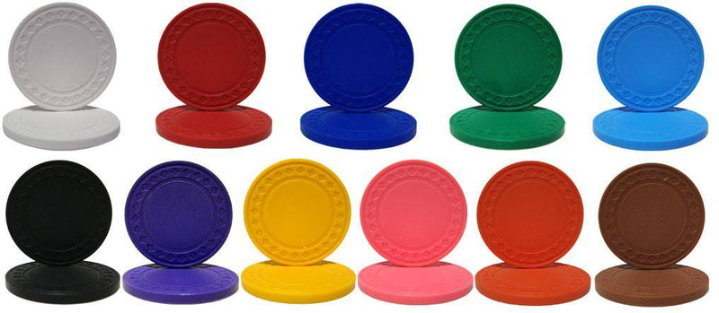 1000 Super Diamond Solid 8. 5 Gram Poker Chips Bulk