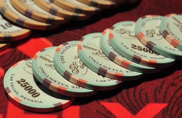 1000 Valentino Ceramic Poker Chips Bulk